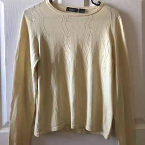 Peck And Peck Collection Yellow Top Sz L